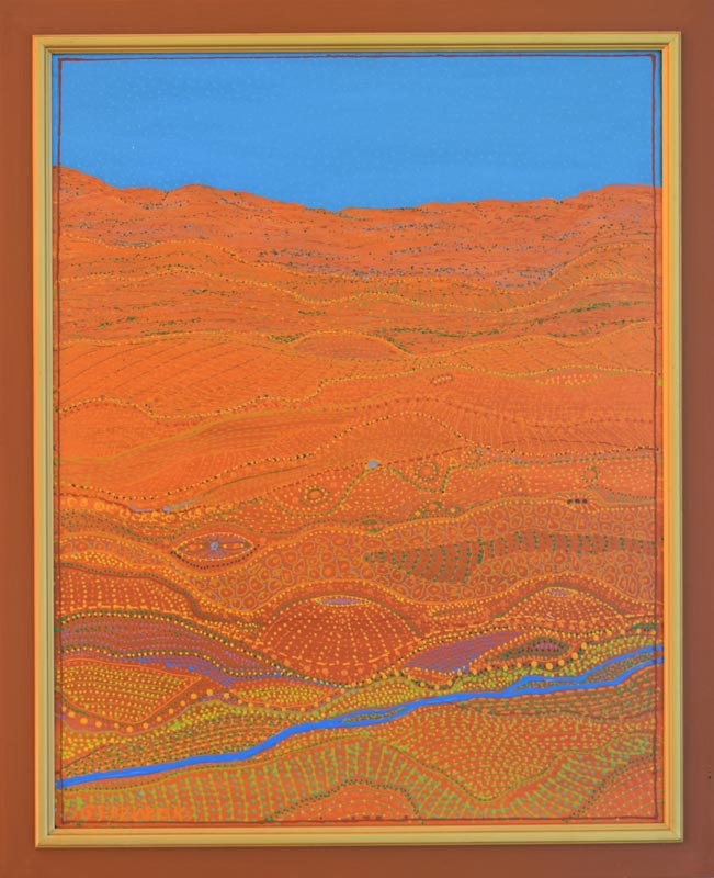 outback painting Australian Aboriginal art inspired desert painting