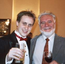 photo of Simon Tedeschi world famous concert piano virtuoso with Ernie Gerzabek famous prominent Australian artist