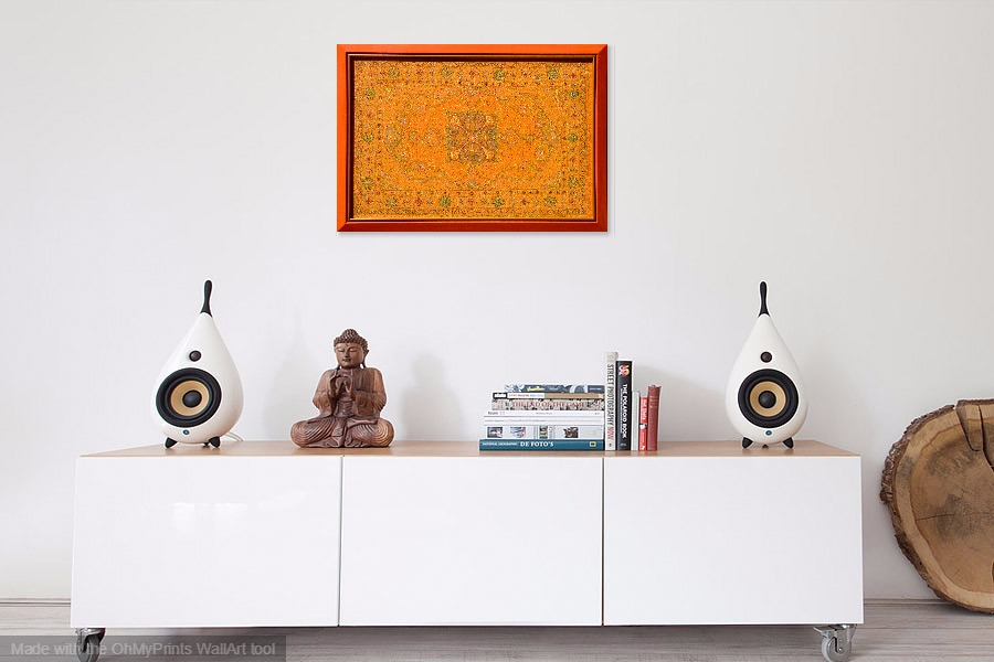 oriental carpet inspired contemporary painting original artwork on wall