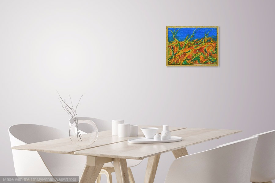 joyscape abstract landscape contemporary original painting on wall