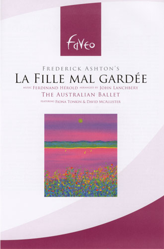 La Fille Mal Gardee, ballet dvd cover using painting image by Ernie Gerzabek contemporary artist