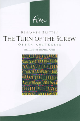 The Turn of the Screw, opera music dvd, cover painting image by Ernie Gerzabek contemporary artist
