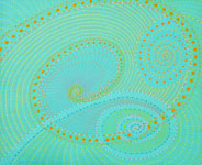 spirals geometric spiral dot painting original contemporary artwork