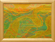 sunrise Australian Aboriginal inspired
