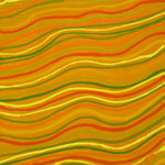 waves pattern yellow orange artwork abstract painting