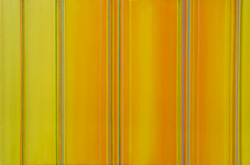 yellow geometric abstract artwork painting with multi-coloured lines
